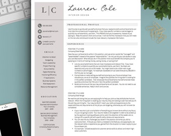 creative resume template for word pages 1 2 and 3 page resume template - 1 Page Resume Template Word