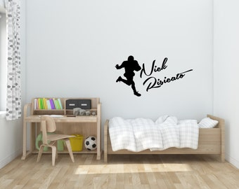 Sports Autograph Wall Decal-Several options, football, basketball, hockey, baseball, custom made, personalization, sports wall decals