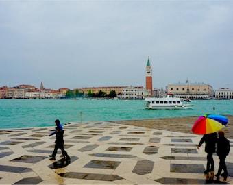 Venice Print, Italy Photography, Fine Art Prints, Italian Art, Wall Art, Travel Photography, Umbrella Art, San Marco, Rain - Venetian View