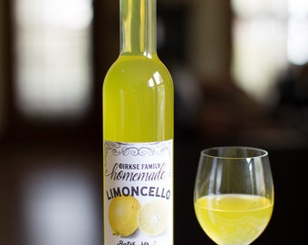Customized Label - Limoncello, Lemon Liqueur - Label for Your Homemade Liqueurs
