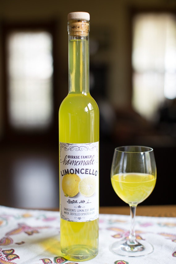 Customized Label Limoncello Lemon Liqueur Label For Your