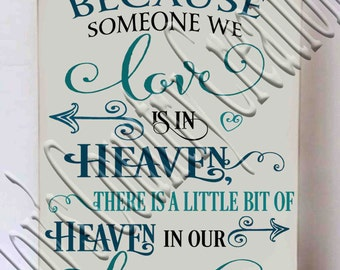There is a little bit of Heaven in our Home   SVG, PNG, JPEG