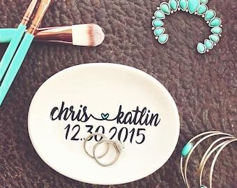 Ring Dish, Bridal Gift, Custom Wedding Ring Dish, Gift for the Bride, Jewelry Dish, Ring Holder, Wedding Gift, Bridal Shower Gift, Mr & Mr