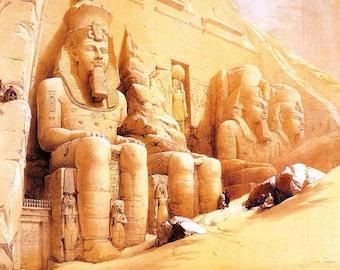 Karnak Temple - Egyptian Art - Handmade Oil Painting On Canvas