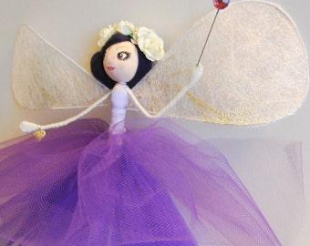 Fairy Godmother  - Fela -  guardian angel - OOAK art doll - fairy decoration