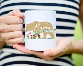 New Mom Christmas Gift, Christmas Gift for New Mom, Christmas Mug for New Mom, Christmas Gift Mama Bear, Mama Bear Christmas Gift