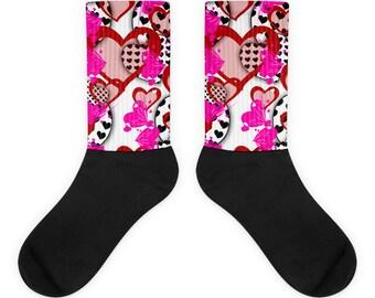 Valentine Socks - Heart Socks - Valentines Day Socks - Themed Socks - Valentines Gift - Christmas Socks