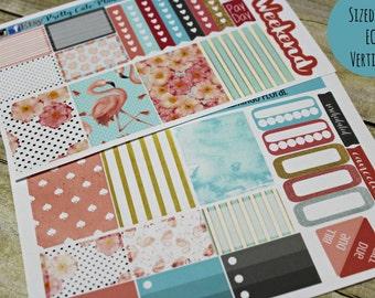 Planner Stickers - Weekly Planner Sticker Set - Erin Condren Life Planner - Functional stickers - Flamingo Floral Stickers - Flamingos