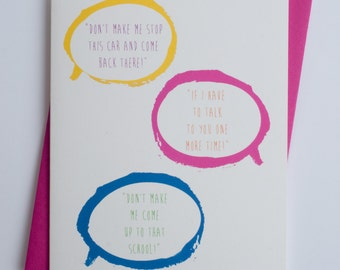 Empty Threats   Funny Mother's Day   Mother's Day Card