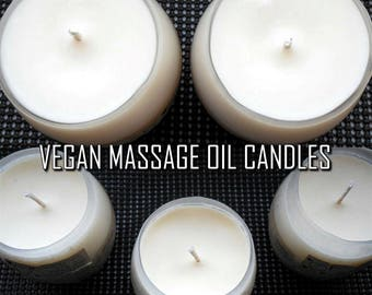 Amorous Apothecary Massage Oil Candles | Pure Moisturizing Lemongrass/Lily of the Valley Aromatherapy Aphrodisiac Soy Wax Massage Candle