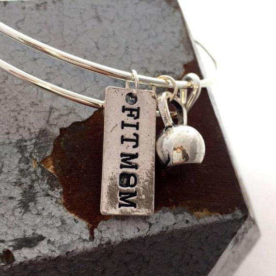 Kettlebell Charm Wire Bracelet, Kettlebell Charm Bracelet, Cross Fit Jewelry, Crossfit Charm Bracelet, Fitness Jewelry, Bodybuilding Fit Mom