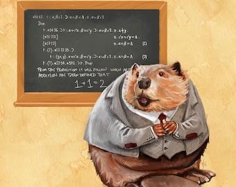 Beaver Mathematica art // 8x10 archival pigment print // gift for math lovers, mathematicians, teachers