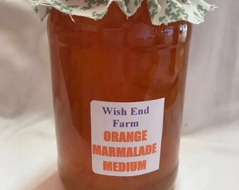 Orange Marmalade Medium Peel Homemade 450g (1LB) Jar, Food Gift, Birthday Gift, Seville Oranges, Gifts for Him, Christmas Gift