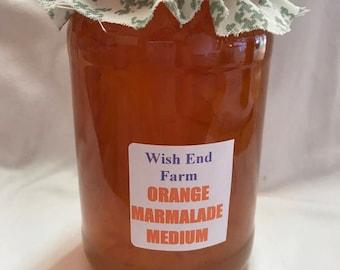 Orange Medium Peel Marmalade Homemade 450g (1LB) Jar, Food Gift, Birthday Gift, Seville Oranges, Gifts for Him, Christmas Gift