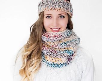 Matching Neck Warmer + Ribbed Headband // Customizable