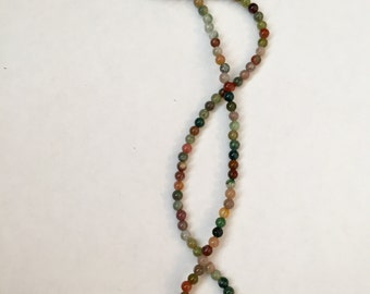 Tourmaline and Jasper Beaded Necklace 18""