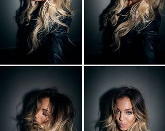 Ombre Ash Blonde Hair, Genuine European Human Hair/ available in 120g & 200g Clip-in Hair / Re-usable guaranteed