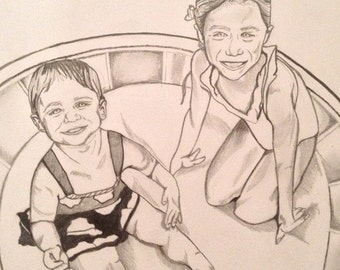 Commission- Babies in Paddling Pool