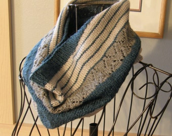 Knitted Cowl / Turquoise Cowl