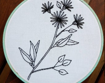 Simple Floral Embroidery Hoop Art