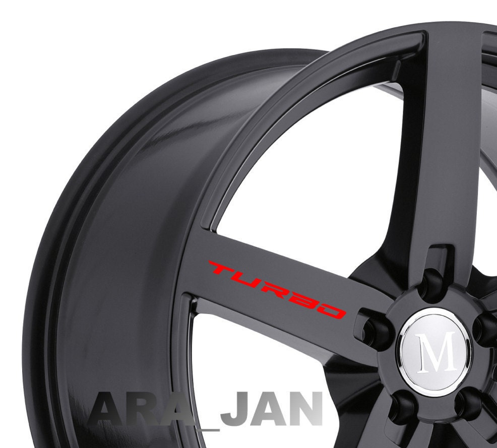 Pcs TURBO Vinyl Decal Racing Sticker Car Wheels Rims Logo - Lexus custom vinyl decals for car