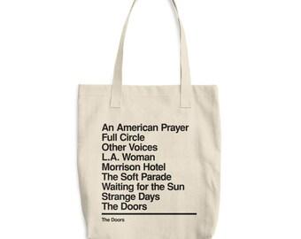 The Doors - Doors band - Gift for Doors fan - Rock Music Lover - Jim Morrison - Discography - Doors bag - Doors tote - Vinyl Bag - Canvas