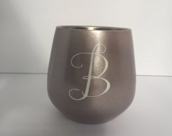 Powder Coated Wine Glass Wine Glass Wedding Wine Glass Custom Wine Glass Stemless Wine Glass Wine Lover