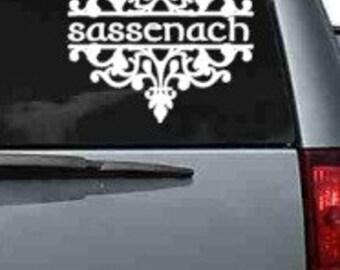 White Sassenach Car Decal - Outlander - Outlander Fan - Yeti Decal - Laptop Decal