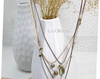 Necklace Ô Mon Amour de LaoÔBijoux, Silver 925, stones
