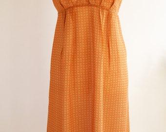 JIGSAW Orange Silk Maternity dress, Silk Loose Dress, Summer Silk Dress UK Size 16