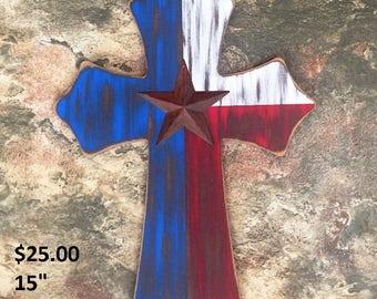 Rustic Texas Cross