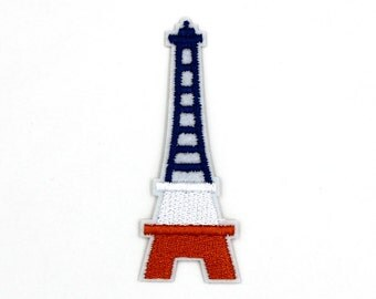 Eiffel Tower Patch Sew On / Iron On DIY Patch Embroidered Applique 1.7x4.5cm - RP562