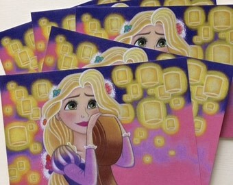 Rapunzel 5x7 Art Print