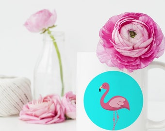 Pink Flamingo Mugs, Flamingo Coffee Mug, Flamingo Mug, Pink Flamingo, Flamingo