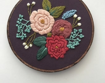 Embroidery Pattern PDF Pattern Floral Pattern Digital Download Stitching Guide Stitching Tutorial By Hoffelt and Hooper Co