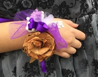 Prom Corsage / Cedar Rose Corsage / Graduation corsage / flower corsage