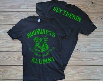 Hogwarts Alumni  Slytherin Harry Potter T Shirt