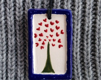 Love tree pendant