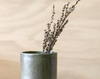 Dark Green Cylinder Vase