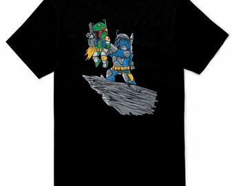 Boba Fett Father Mens Black T-shirt All Sizes S - 5XL