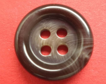 10 buttons 15mm dark brown (1386) Brown