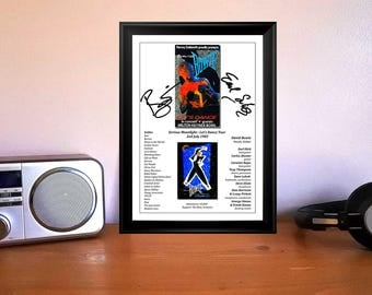 David Bowie Serious Moonlight Lets Dance Gig Ticket 1983 Autographed Signed Photo Print