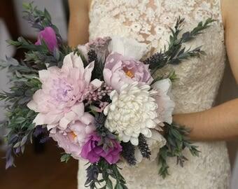 Beautiful Handmade Paper Wedding Bouquet. Alternative  Wedding Bouquet. Wedding Flowers. Custom Bouquet
