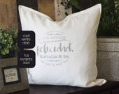 Pillow with personalized ...