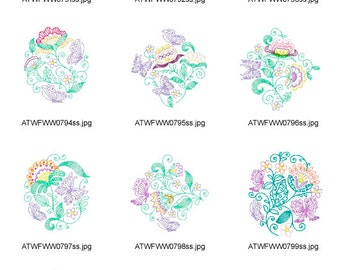 Ripple-Summer-Flowers. ( 10 Machine Embroidery Designs from ATW )