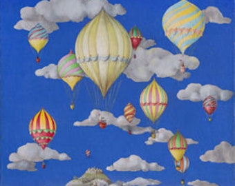 Balloons through the clouds
