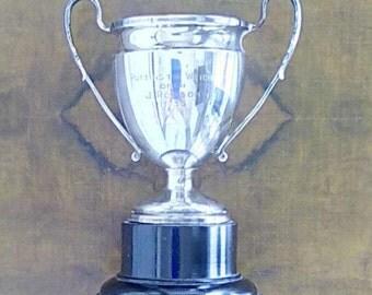 Vintage Sterling Silver Trophy Cup 1935 Blanckensee & Son Ltd Chester 1929