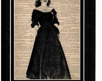 Vintage Dictionary art picture of Bette Davis