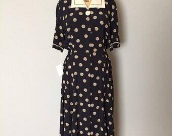 spiral dress   Van Gogh starry night dress   1940s inspired dress