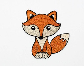 Set of 1 - The Fox. Iron-on Patch/Flex stickers/Applique